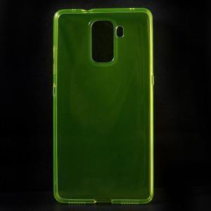 Transparentný gélový obal na telefón Honor 7 - žltý - 1