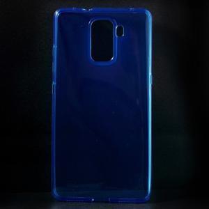 Transparentný gélový obal na telefón Honor 7 - modrý - 1