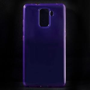 Transparentný gélový obal na telefón Honor 7 - fialový - 1