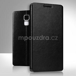 Koženkové puzdro na mobil Honor 7 - čierne - 1