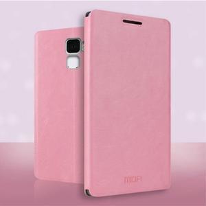 Koženkové puzdro na mobil Honor 7 - ružové - 1