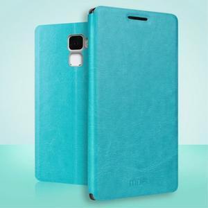 Koženkové puzdro na mobil Honor 7 - modré - 1