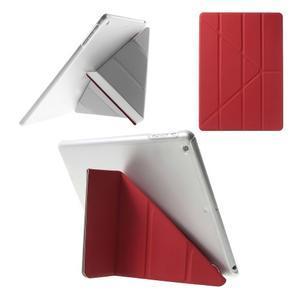 Origami ochranné puzdro pre Apple iPad Air - červené - 1