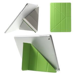 Origami ochranné puzdro na Apple iPad Air - zelené - 1