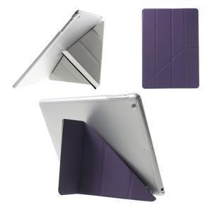 Origami ochranné puzdro na Apple iPad Air - fialové - 1