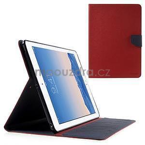 Diary peňaženkové puzdro na iPad Air - červené - 1