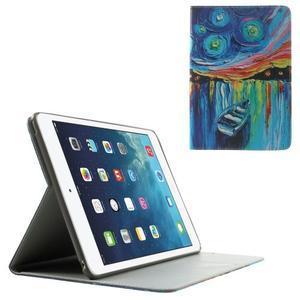 Paint štýlové puzdro pre iPad Air 2 - loďka - 1