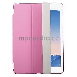 Trifold polohovateľné puzdro na iPad Air 2 - rose - 1