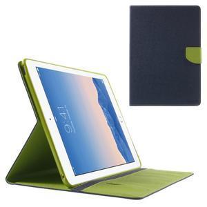 Excelent Diary puzdro pre iPad Air 2 - tmavomodré - 1