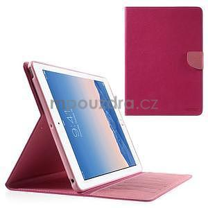 Diary peňaženkové puzdro na iPad Air - rose - 1