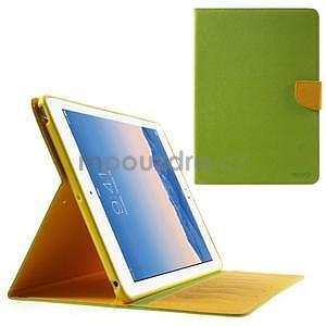 Diary peňaženkové puzdro na iPad Air - zelené - 1