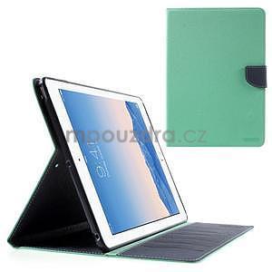 Diary peňaženkové puzdro na iPad Air - azúrové - 1