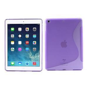 S-line gélový ochranný obal na iPad Air - fialový - 1