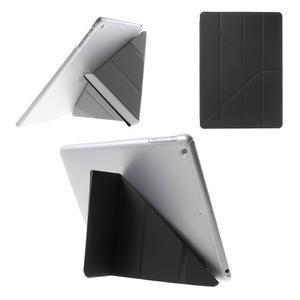 Origami ochranné puzdro pre Apple iPad Air - čierne - 1