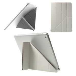 Origami ochranné puzdro pre Apple iPad Air - biele - 1
