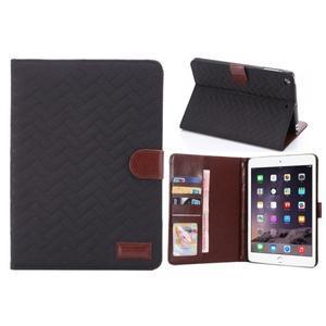 Texture luxusné puzdro pre iPad Mini 3, iPad Mini 2 a iPad Mini - čierne - 1