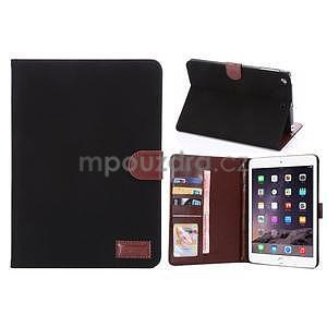 Cloth luxusné puzdro na Ipad Mini 3, Ipad Mini 2 a Ipad Mini - čierne - 1