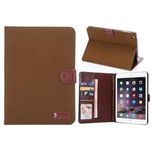 Cloth luxusné puzdro na Ipad Mini 3, Ipad Mini 2 a Ipad Mini - hnedé - 1