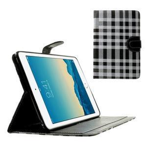 Kockované puzdro na Apple iPad Mini 3, iPad Mini 2 a iPad Mini - čierne - 1