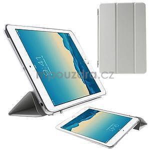Classic troj polohové puzdro pre iPad Mini 3, ipad Mini 2 a na iPad Mini -  biele - 1