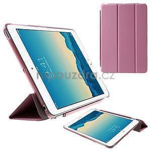Classic troj polohové puzdro pre iPad Mini 3, ipad Mini 2 a na iPad Mini -  ružové - 1