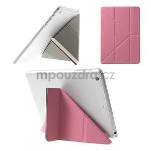 Origami ochranné puzdro iPad Mini 3, iPad Mini 2, iPad mini - ružové - 1