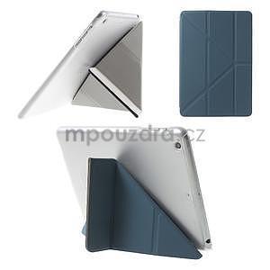 Origami ochranné puzdro iPad Mini 3, iPad Mini 2, iPad mini - tmavomodré - 1