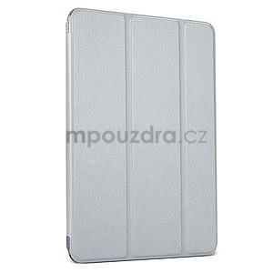Lines polohovateľné puzdro pre iPad Mini 3 / iPad Mini 2 / iPad mini - sivé - 1