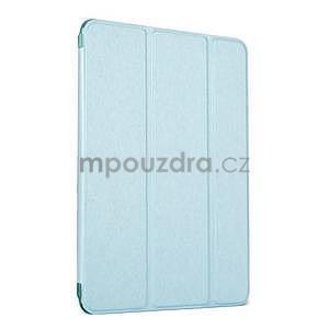 Lines polohovateľné puzdro na iPad Mini 3 / iPad Mini 2 / iPad mini - cyan - 1