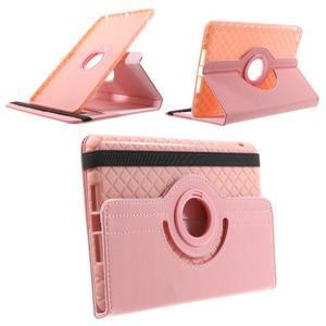 Circu otočné puzdro na Apple iPad Mini 3, iPad Mini 2 a ipad Mini - ružové - 1
