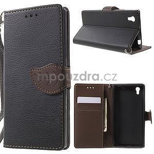 Supreme peňaženkové puzdro pre Lenovo P70 - čierné/hnedé - 1