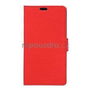 Ochranné peňaženkové puzdro Microsoft Lumia 640 - červené - 1