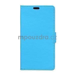 Ochranné peňaženkové puzdro Microsoft Lumia 640 - modré - 1