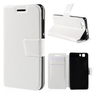 Peněženkové PU kožené pouzdro na mobil Doogee X5 - bílé - 1
