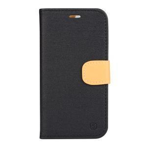 Clothy PU kožené puzdro pre mobil Doogee X5 - čierne - 1