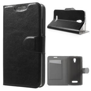 Horse peňaženkové puzdro pre Lenovo A2010 - čierné - 1