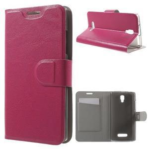 Horse peňaženkové puzdro pre Lenovo A2010 - rose - 1
