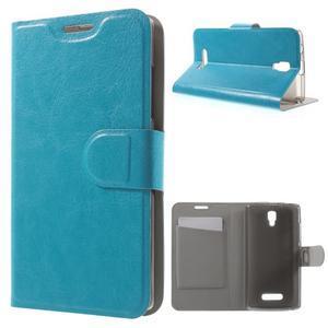 Horse peňaženkové puzdro pre Lenovo A2010 - modré - 1