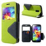 Pěněženkové pouzdro s okýnkem pro Samsung Galaxy S5 mini -  zelené - 1/7