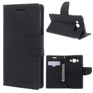 Mr. Fancy koženkové puzdro na Samsung Galaxy A5 - čierné - 1
