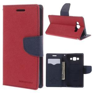 Mr. Fancy koženkové puzdro na Samsung Galaxy A5 - červené - 1