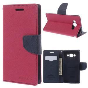 Mr. Fancy koženkové puzdro na Samsung Galaxy A5 - rose - 1