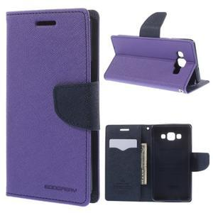 Mr. Fancy koženkové puzdro na Samsung Galaxy A5 - fialové - 1