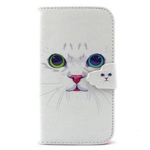 Peňaženkové puzdro pre mobil Samsung Galaxy S3 - mačička - 1