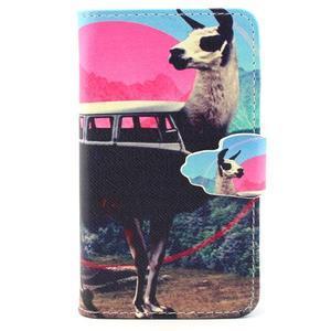 Fun peňaženkové puzdro pre Samsung Galaxy S3 mini - lama - 1
