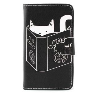 Fun peněženko puzdro na Samsung Galaxy S3 mini - kočička čte - 1