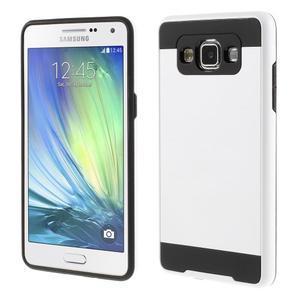 Hybridné gélové/plastové puzdro pre Samsung Galaxy A5 - biele - 1