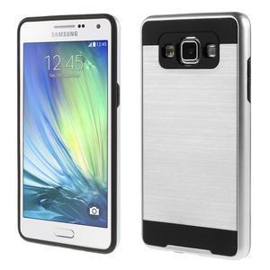 Hybridní gélové/plastové puzdro na Samsung Galaxy A5 - strieborné - 1