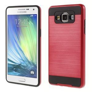 Hybridní gélové/plastové puzdro na Samsung Galaxy A5 - červené - 1