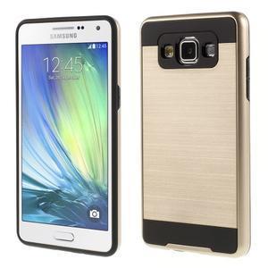 Hybridné gélové/plastové puzdro pre Samsung Galaxy A5 - zlaté - 1